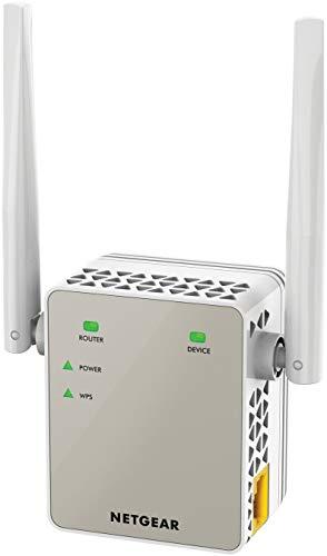 Netgear EX6120 Ripetitore WiFi AC1200, WiFi Extender e access point Dual band, Porta Lan, amplificatore wifi compatibile con modem fibra e adsl