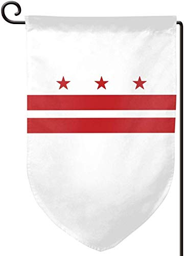 OLYIE Flaggen Washington D-C Flag Home Flag Outdoor Garden Flags Decorative 12.5x18 Inch Pattern Double-Sided Printing Ensign