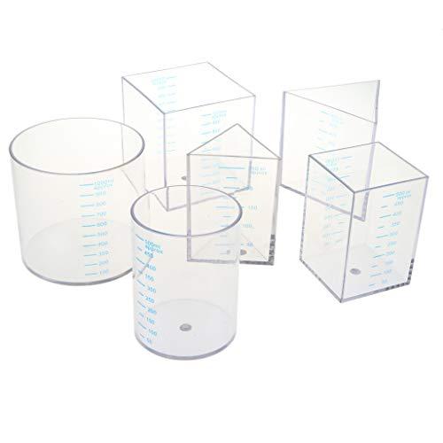 CUTICATE 6 Unidades Taza Medir Plástico Vasos Jarras