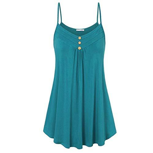 VJGOAL Damen Kleid, Damen Mode Häkeln Spitze rückenfreies Mini Slip Camisole ärmellos Sommer Strand Weste Kleid (S / 36, Aa-Grün)