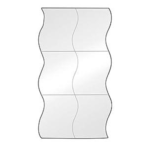 1 Stk Spiegelfolie Wandaufkleber Selbstklebende Spiegel Folie – Spiegel Wandaufkleber Rechteck selbstklebende Raum Dekor Stick auf Kunst