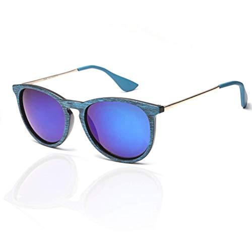 WYJW Sonnenbrille für Frauen, Vintage runde Sonnenbrille Klassischer Retro-Designer-Stil für Mädchen und Damen Verspiegelte Sonnenbrille Uv400-Schutz