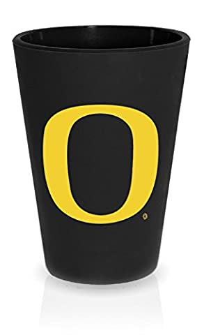 SILIPINT Silicone Shot Glasses, Squishy Shot Glasses, The Original Unbreakable Shot Glass, Patented Unbreakable Glassware for Shots and Dips and More, Drinkware That is Heat Safe and Freeze Safe, Oregon Ducks Drinkware, Bouncy Black with