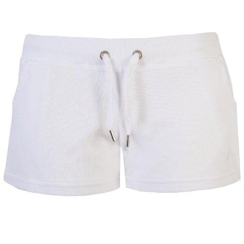 Brody & Co. Damen Short, Einfarbig Weiß - Weiß
