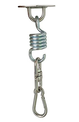 COMINGFIT® Kit de Fixation pour Fauteuil Suspendu Fixation pour Hamac vis de montage / ressort / carabine-Poids max supporté 100 kg