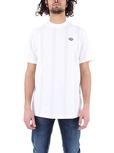 adidas Herren Stand Collar T Hemd, weiß, M Adidas Stand