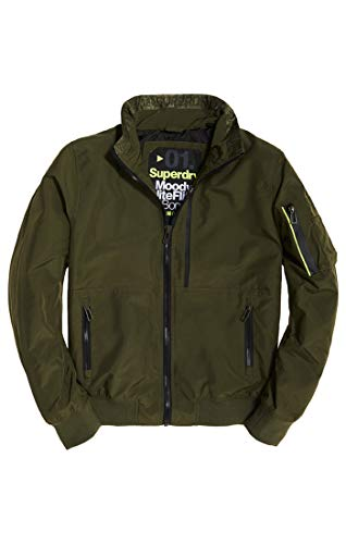 Superdry Herren Bomberjacke Moody Light Bomber Beige (Field Khaki Sg4), Medium