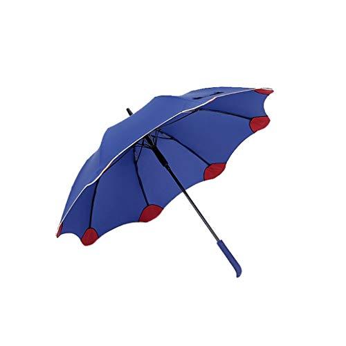 Regenschirm Männer und Frauen des Langen Griff-Golf-Regenschirm-großen verstärkten wetterfesten Regenschirm-kreativen Regenschirmes Taschenschirm (Color : Blue) - Anti-bruch Creme
