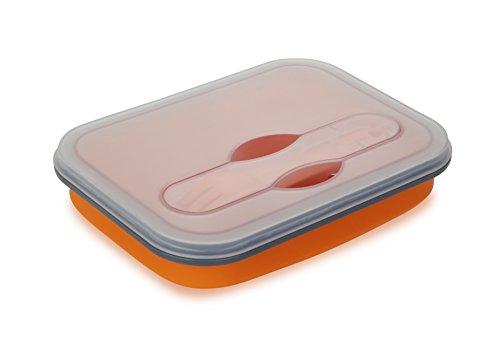 Vaschetta contenitore porta pranzo ad uno scomparto estendibile in silicone