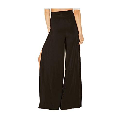 Women High Waist Slit Wide Leg Pants Fashion Office Ladies Long Pants Casual Streetwear Work Black Pants Trousers Black XXL -