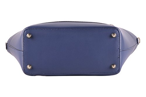 BORDERLINE - 100% Made in Italy - Borsa da Donna in Vera Pelle - TANIA Blu notte