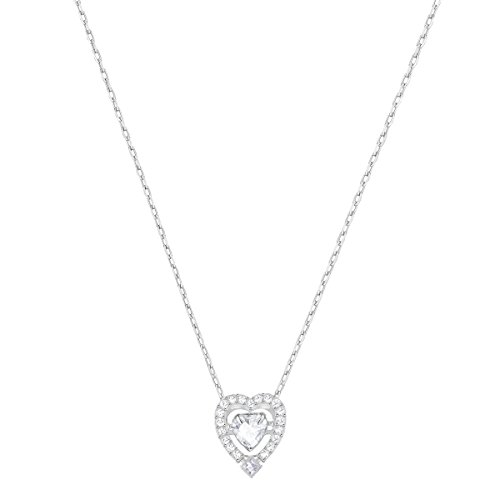 Swarovski Women's Rhodium Plating and White Crystal Sparkling Dance Necklace Pendant