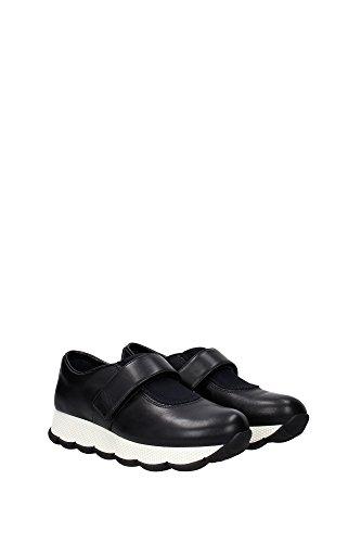 3S6178NERO Prada Sneakers Femme Cuir Noir Noir