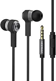 VEENAX M6 Auricolari In-Ear Cuffie, Cuffiette con Microfono e Cavo, Sportive Auricolare con Filo, Bassi+, Ster