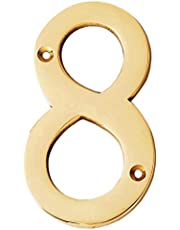 "eSplanade 4"" Brass House Hotel Door Number Plaque Numeric Numerical Digit 0-9"