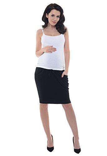 Purpless Maternity Maternidad Premama Embarazadas Falda Banda Elástica Embarazo Oficina Ropa 1500 (42, Black)