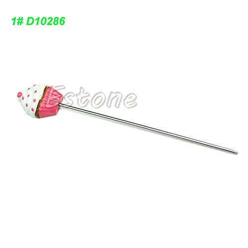 Cake Tester - Stainless Steel Cupcake Cake Tester Probe Skewer Spike Gateux Baking - Cake Releaser Stainless Magnet Sticks Novelty Cover Metal Bamboo Probe Pack Testers Reusable Steel Bulk Ske