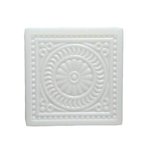OUNONA Zement Form Kunststoff Chrysantheme Muster Betonform Pflasterform DIY Gehweg Gießform Garten Schablone 32x32x6cm (Weiß)