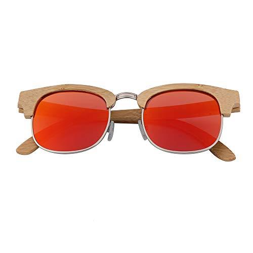 Zbertx Neue Bambus Sonnenbrille Frauen männer Holz Sonnenbrille für männlich weiblich Vintage Reise Brille Sonnenbrille Brillen,rot