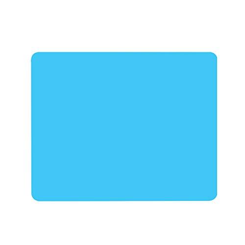 PYXM Backmatte 2 Stück Silikon Backmatte Mehrzweck Antihaft Gebäck Matte Hitzebeständige rutschfeste Tischmatte Arbeitsplatte Protector,Blau - Blue Tortilla-server