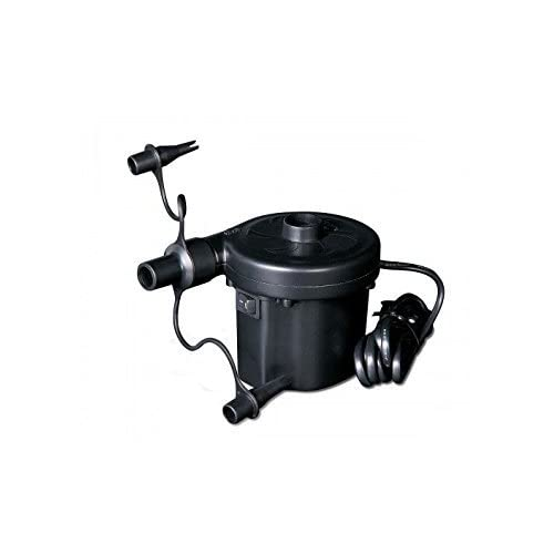 31GuAoZq vL. SS500  - Electric air pump inflator with universal valves. 3 pin UK mains plug. Bestway branded. For AirBeds Paddling Pools and…