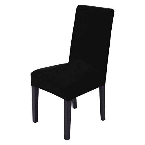 31GuBEKN8mL - BEST BUY #1 Pack of 4 Stretch Chair Covers, GoFree Chair Slipcovers Washable Removable Seat Covers Elastic Protector Chairs Covers for Hotel Restaurant Wedding Party Home Dining Room, Black Reviews and price compare uk