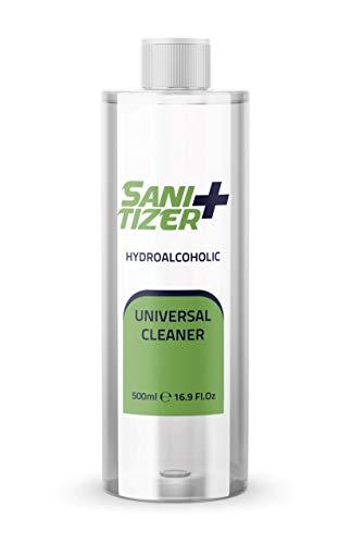 Sanitizer + hidroalcoholico 500ml Recambio | Sanitizer universal para manos y todo tipo de superficies | Desinfectantar antibacterial universal para todo tipo de superficies