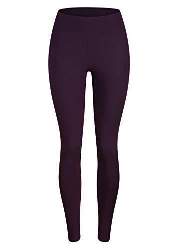 Baumwolle Spandex Leggings (LANBEN Frauen in voller Länge Baumwolle Leggings weich, plus Größen (Eine größe(32-42)(XXS-L), Dunkelviolett))