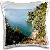 Preisvergleich Produktbild Taiche - Photography - Seascapes - Gkova Krfezi A scenic shot of the Turkish coastline with blue waters and pine trees - 16x16 inch Pillow Case