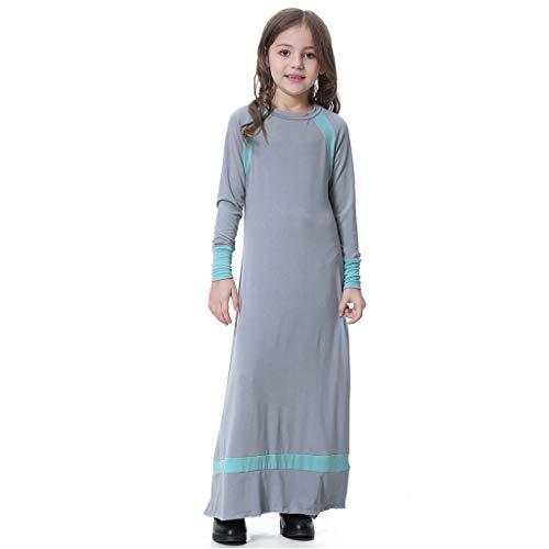 b7721e4c5f7b9 piabigka Fille Musulman Applique Abaya Jilbabs Manches Longues Hijabs Maxi  Robe Longue Vêtement