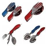 4 in 1 Travel Fork Spoon knife opener se...