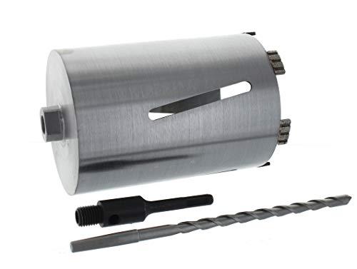 Diamant Bohrkrone SDS-plus Aufnahme und Zentrierbohrer Nutzlänge 180 mm Ø 102 mm Betonbohrkrone Kernbohrer
