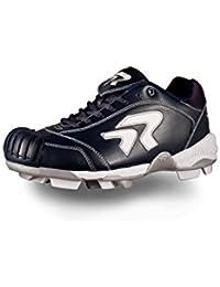 Ringor - Zapatillas de softball de piel para mujer