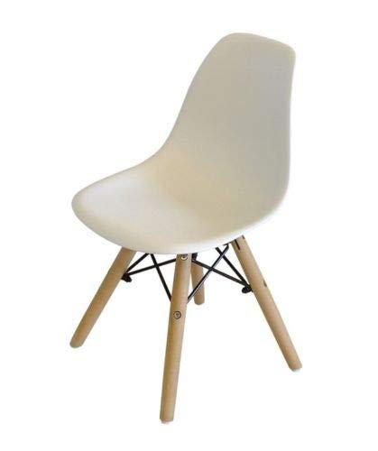 Milano 1er oder 4er Stuhl für Kinderzimmer Kinderstuhl Kinder Stuhl (Weiß, 1)