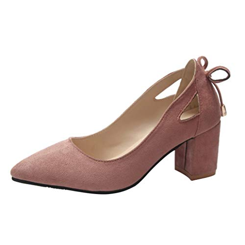 UFACE Damen Pointed Wildleder Chunky mit großen Einzelnen Schuhe Flachen Mund Frauen Schuhe Frauen...