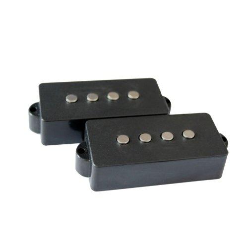 Surfen schwarz 4Saiten rauscharmes Tonabnehmer-Set für Precision P Bass