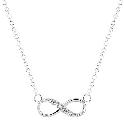 Preisvergleich Produktbild BAMAGO Unendlichkeit Halskette Silber Infinity