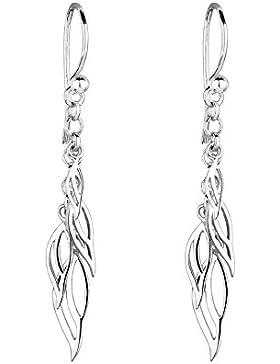 Elli Damen-Ohrhänger Blatt 925 Sterling Silber 311480211