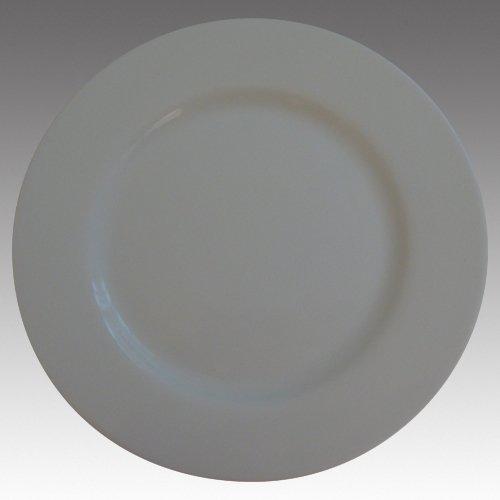 Lot de 6 Assiettes Plates 26 cm Blanc Orione