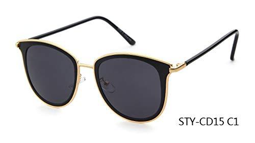 Sonnenbrille,Neueste Sonnenbrille Frauen Design Cat Eye Sonnenbrille Spitze Frames Partei Dunkelgrau
