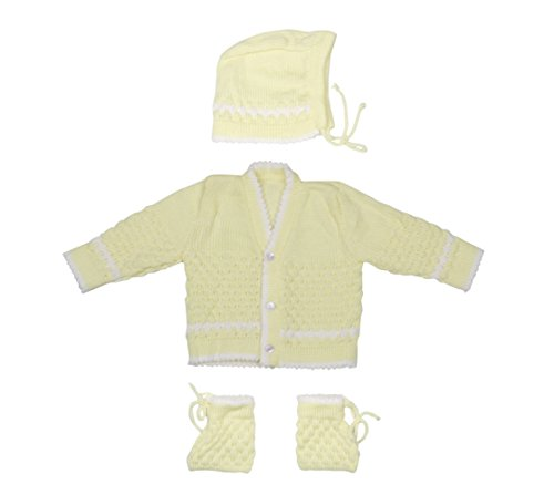 Montu Bunty Wear New Born Baby Woollen Cardigan (Yellow, 0-6 Months)  available at amazon for Rs.349