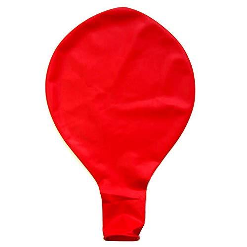 Prevently 36 Zoll Luftballon, Große Riesen Oval Latex Große Ballon Luftballon, Partyballon für Weihnachten, Geburtstagsfeiern, Party, Hochzeitsfeiern (Red)