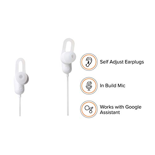 Mi Sports Bluetooth Earphones Basic with Dynamic bass, Splash and Sweat Proof, up to 9hrs Battery (White) Image 4