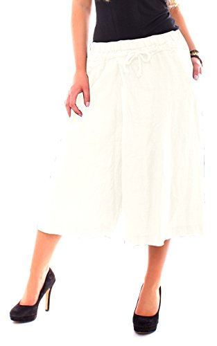 Easy Young Fashion -  Gonna  - Culotte - Donna Bianco
