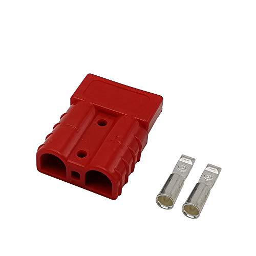 Batterieanschluss,Colorful 50A 600 V Batterie Schnellanschluss Stecker Für Auto Van Modi Motorrad (Rot) 50a Steckdose