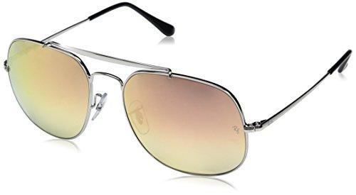 RAYBAN JUNIOR Herren Sonnenbrille General Silver/Gradientbrownmirrorpink 57
