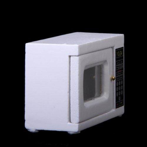 Legno Bianco Micro Forno 1: 12 Scala In Miniatura Di Casa Di Bambola