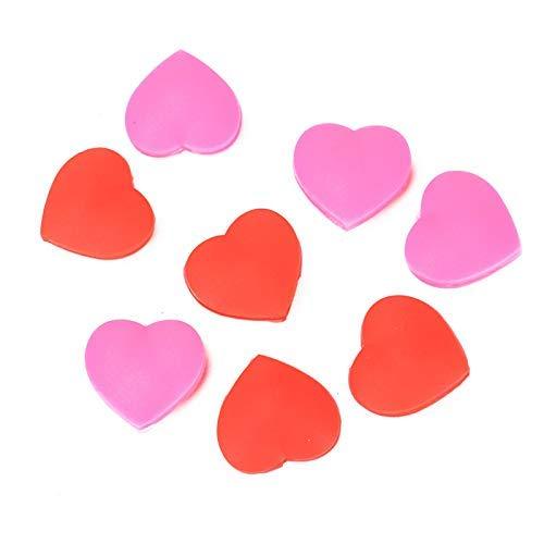 AQUEENLY Tennis-Dämpfer in Herzform, für alle Schlägermarken (rot, pink) 8 Stück