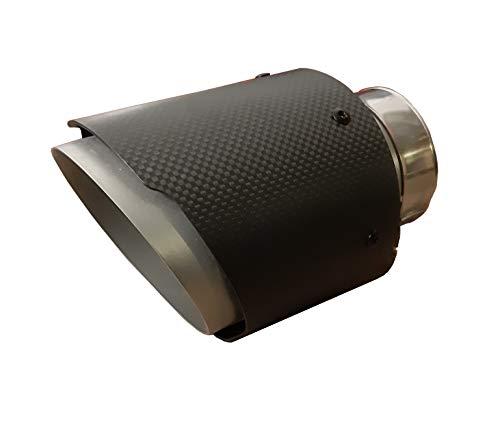 CARTUNER® Carbon Auspuffblende Endrohr Auspuff 100mm Anschluß 60-65mm Exclusiv