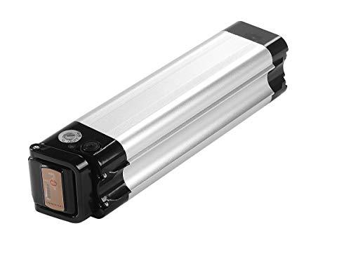 SEASON Ebike Akku 24V(25.2V) 10Ah Li-ion Akku Sitzrohr Batterie in Silber mit Ladegerät für u.a. Trio Phylion MiFa Rex Prophete